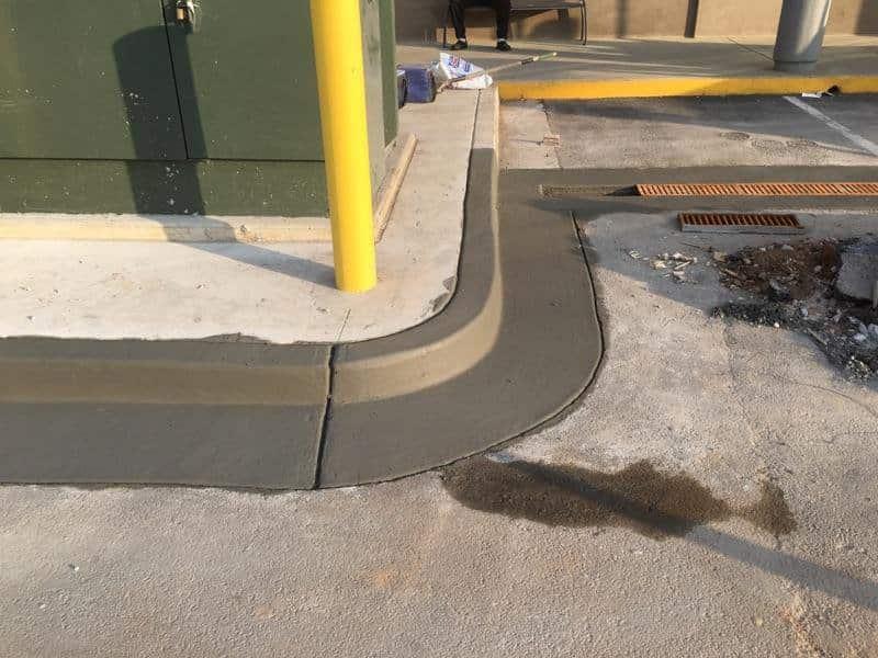 concrete parking block
