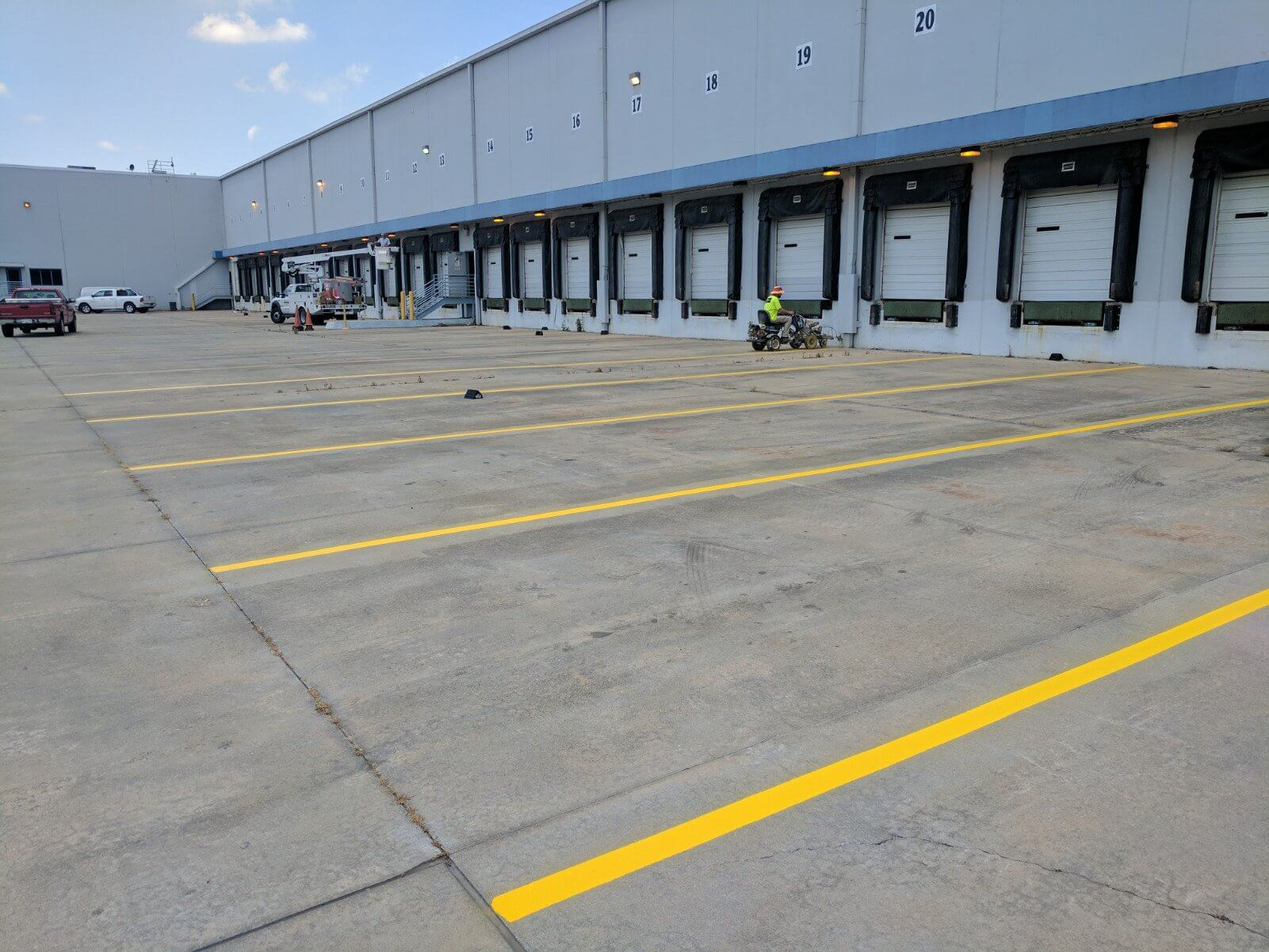 warehouse striping company