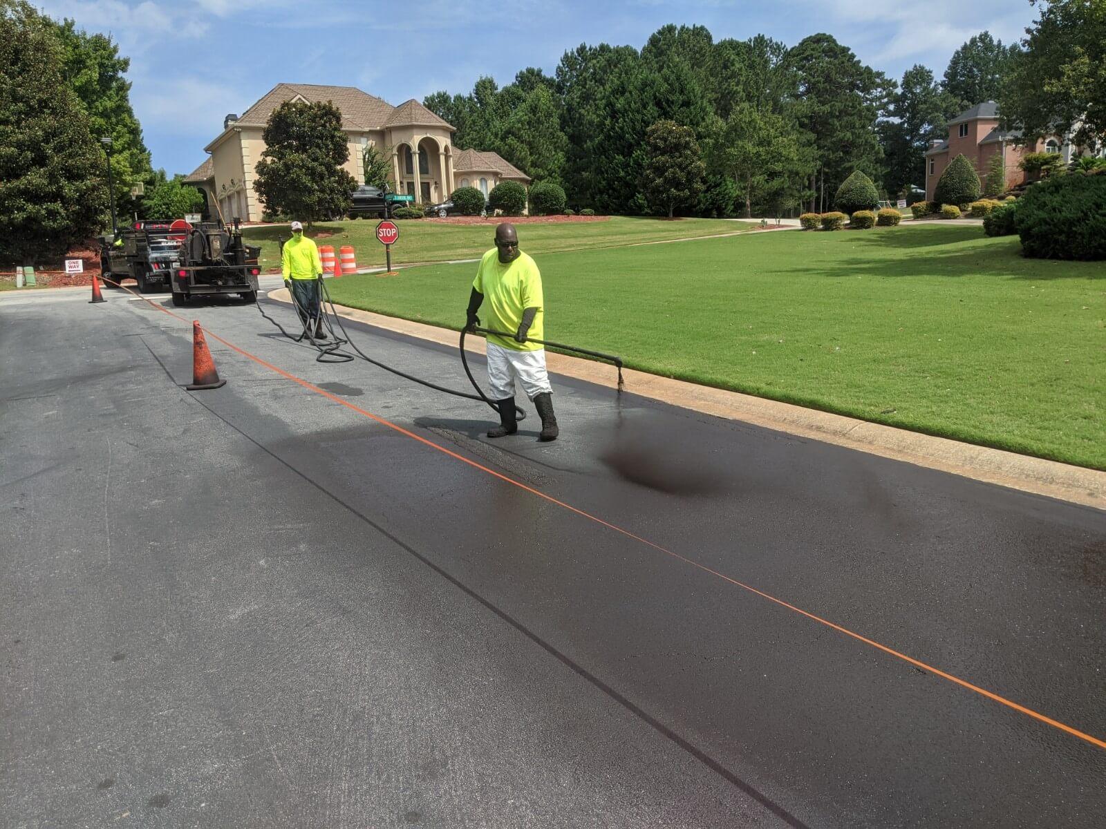 commercial asphalt seal coating services