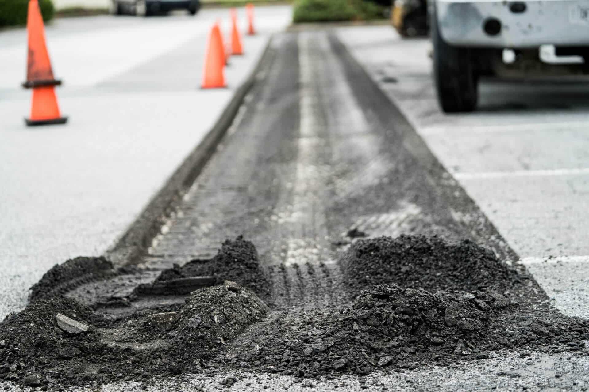 crushed asphalt millings